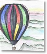 Hot Air Balloon 12 Metal Print