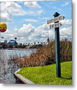 Hot Air Balloon And Old Key West Port Orleans Signage Disney World Metal Print