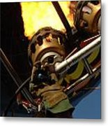 Hot Air Balloon Burner Metal Print