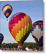 Hot Air Balloon Festival In Decatur Alabama  Metal Print