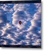 Hot Air Balloon In A Cloudy Sky Abstract Photograph Metal Print