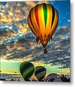 Hot Air Balloon Lift Off Metal Print