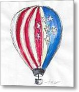 Hot Air Balloon Misc 01 Metal Print