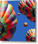 Hot Air Balloon Panoramic Metal Print by Edward Fielding