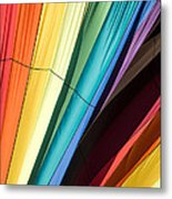 Hot Air Balloon Rainbow Metal Print