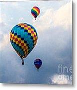Hot Air Balloon Trio Metal Print
