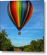 Hot Air Balloon Woodstock Vermont Metal Print by Edward Fielding