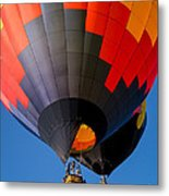 Hot Air Ballooning Metal Print by Edward Fielding