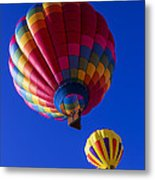 Hot Air Ballooning Together Metal Print