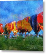 Hot Air Balloons Photo Art 01 Metal Print