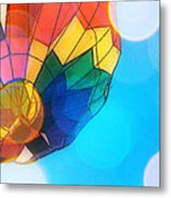 Hot Air Bokeh Metal Print