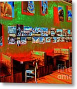 Hot Bar-glow Metal Print