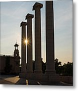 Hot Barcelona Afternoon - Magnificent Columns And Brilliant Sun Flares Metal Print
