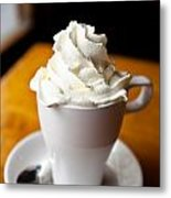 Hot Chocolate With Creme Chantilly Metal Print