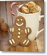 Hot Cocoa And Gingerbread Cookie Metal Print by Juli Scalzi