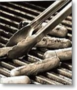 Hot Dogs On The Grill Metal Print