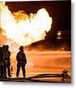 Hot Flames Metal Print