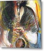 Hot Jazz Man Metal Print