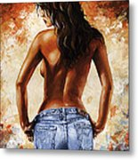 Hot Jeans 02 Blue Metal Print