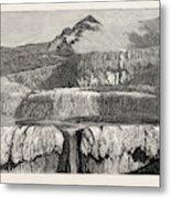 Hot Lakes Of New Zealand The Tattooed Basin Metal Print