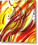 Hot Lines Twist Abstract Metal Print