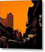 Hot Nights On Bourbon Street Metal Print