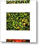 Hot Pepper Collage Metal Print