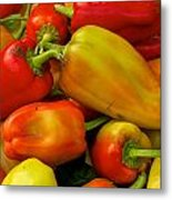 Hot Peppers Metal Print
