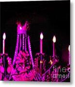 Hot Pink Chandelier Metal Print