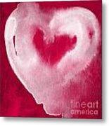Hot Pink Heart Metal Print by Linda Woods