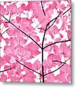 Hot Pink Leaves Melody Metal Print
