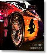 Hot Red Car Metal Print