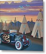 Hot Rod At The Wigwams Metal Print
