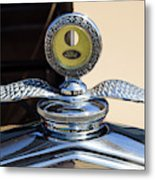 Hot Rod Car Instrument Detail Metal Print