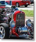 Hot Rod Engine Metal Print
