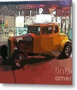Hot Rod Icon Metal Print