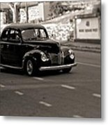 Hot Rod On The Street Metal Print