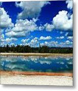 Hot Springs And Clouds Metal Print