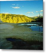 Hot Springs Yellowstone Metal Print