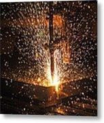 Hot Steel Metal Print