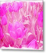 Hot Stuff   In Your Face Pink Tulips Metal Print