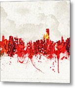 Hot Summer Day In Chicago Metal Print