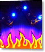 Hot Times On Earth With Ufo's Metal Print