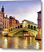 Hot Venetian Nights Metal Print