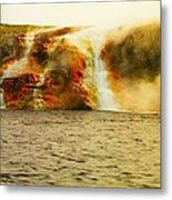 Hot Water Pouring Metal Print