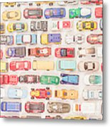 Hot Wheels Square Format Metal Print