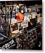 Hotdog Vender Metal Print