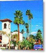Hotel California Palm Springs Metal Print