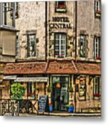 Hotel Central In Beaune France Metal Print
