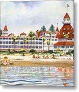 Hotel Del Coronado From Ocean Metal Print by Mary Helmreich